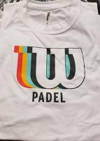 Męski T-Shirt Wilson M Padel Blur Tech Tee - white