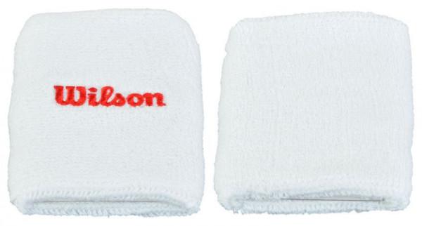 Wilson Double Wristband - white/red