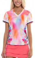 Tenisa T-krekls sievietēm Lucky in Love Techno Tropic S/S  Women - punch