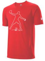 Muška majica Wilson Bela Tech Tee M - infrared