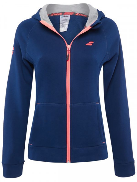 Teniso bluzonas moterims Babolat Core Hood Sweat Women - estate blue