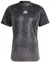 Muška majica Adidas Tennis Freelift Printed T-Shirt Primeblue M - grey five