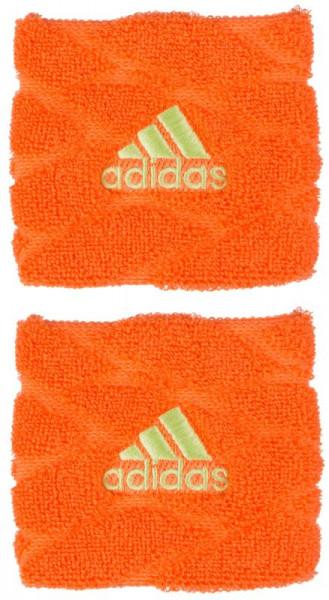 Adidas Braided Wristbands S (OSFM) - hi-res orange/semi frozen yellow
