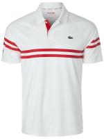 Męskie polo tenisowe Lacoste Novak Spring Polo M - white/red