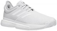 Damskie buty tenisowe Adidas SoleCourt Boost W Primeblu - white/white/core black