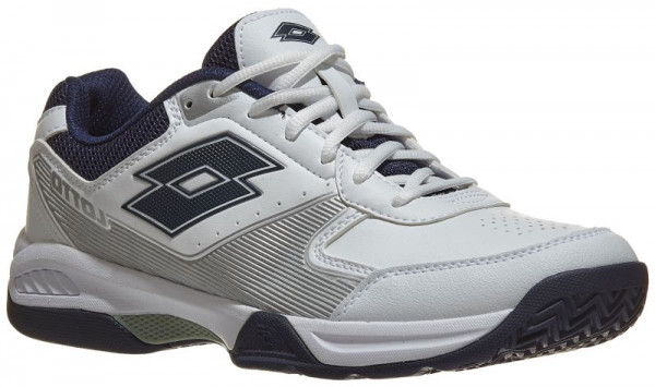 5334742b6c1a0d Męskie buty tenisowe Lotto Space 600 All Round - all white/navy blue
