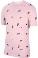 Męski T-Shirt Nike Court Tee Roland Garros - pink foam