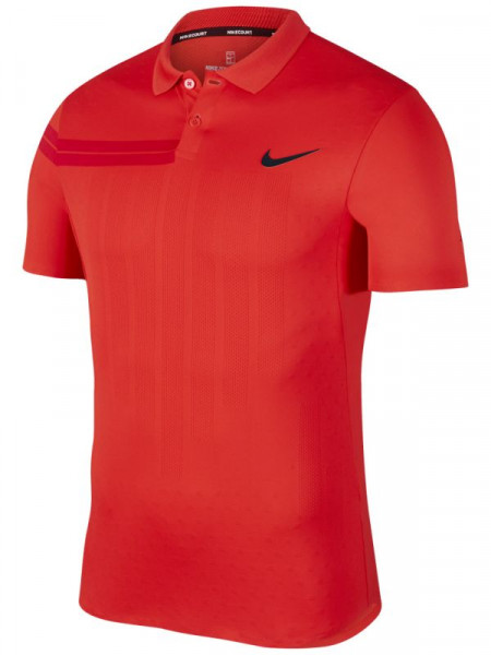 Nike Court RF Advantage Polo PS - habanero red/habanero red/gym red/black