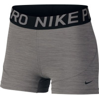 Damskie spodenki tenisowe Nike Pro Women's 3in Training Shorts - gunsmoke/htr/black/black