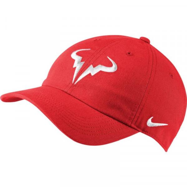 Teniso kepurė Nike Rafa U Aerobill H86 Cap - chile red/white