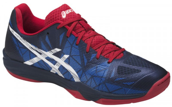 Squash shoes Asics Gel-Fastball 3 - insignia blue/white/prime red