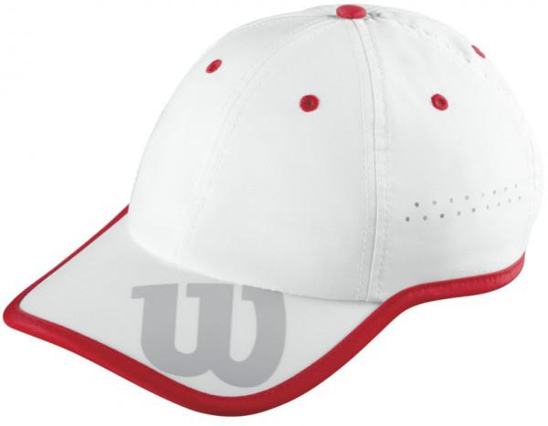 Czapka tenisowa Wilson Baseball Hat - white/wilson red