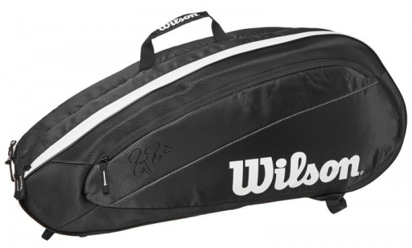 Torba tenisowa Wilson Fed Team 6 Pk Bag - black/white