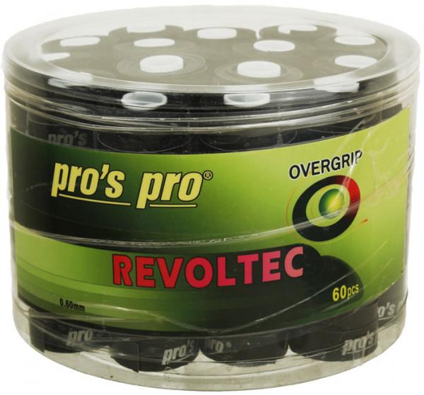 Owijki tenisowe Pro's Pro Revoltec 60P - black