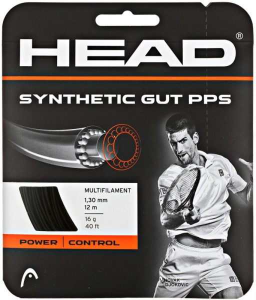 Naciąg tenisowy Head Synthetic Gut PPS (12 m) - black
