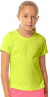 Koszulka dziewczęca Lucky in Love Core Dynamic High-Low S/S Girls - neon yellow