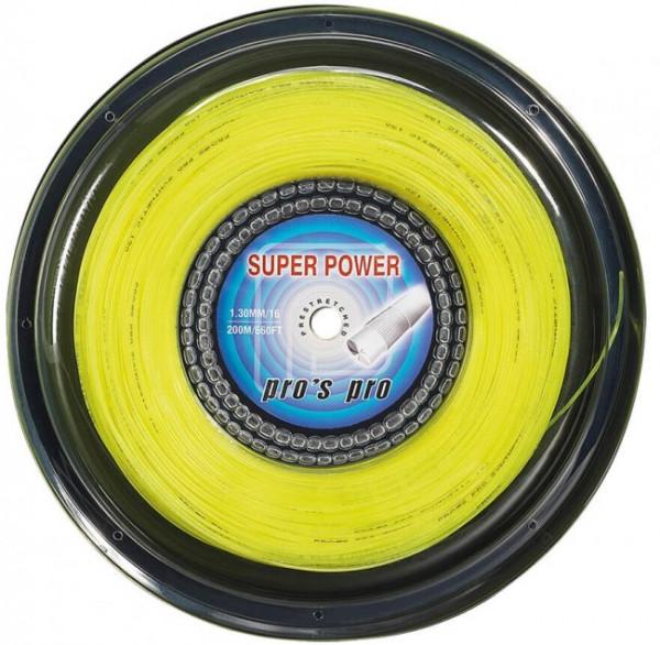 Naciąg tenisowy Pro's Pro Super Power (200 m) - yellow