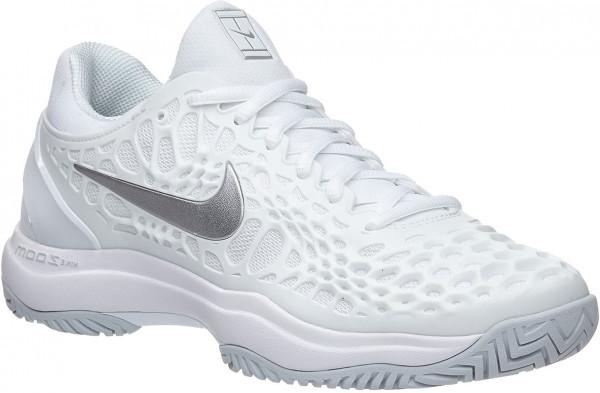 Damskie buty tenisowe Nike WMNS Air Zoom Cage 3 HC - white/metallic silver