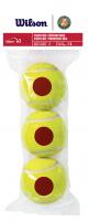 Juniorskie piłki tenisowe Wilson Roland Garros Red 3B