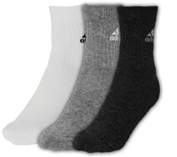 Tenisa zeķes Adidas Adicrew HC 3pp - 3 pary/black/white/medium grey heather