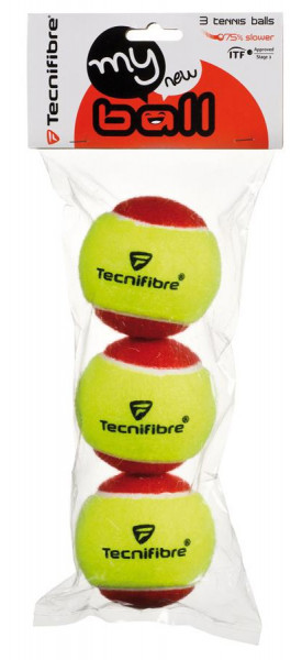 Juniorskie piłki tenisowe Tecnifibre My New Ball (3 szt.)