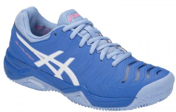 362750f1 Damskie buty tenisowe Asics Gel-Challenger 11 Clay - electric blue/white