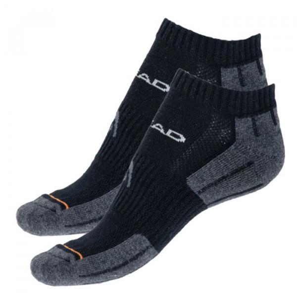 Tenisa zeķes Head Performance Sneaker 2P - black