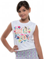 Majica kratkih rukava za djevojčice Lucky in Love Novelty Print Sun Chaser Tank Girls - multi