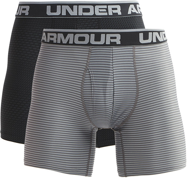 Spodenki Tenisowe Under Armour Original Series Printed 6 Inseam Boxerjock 2-Pack - black/gray