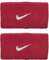 Nike Swoosh Double-Wide Wristbands - red crush/wolf grey