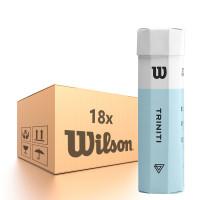 Tenisa bumbiņas kartona kastēs Wilson Triniti - 18 x 4B