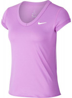 Nike Court Dry Top SS W - purple nebula/white
