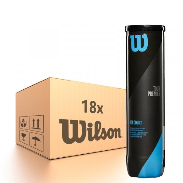 Teniso kamuoliukų dėžė Wilson Tour Premier All Court - 18 x 4B