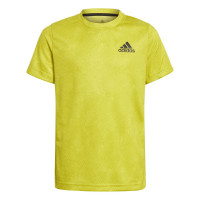 Majica za dječake Adidas Heat Ready Primeblue Freelift Tee - acid yellow/wild pine/white