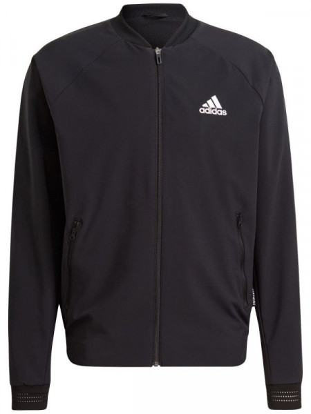 Bluzonas vyrams Adidas Stretch Woven Primeblue Jacket M - black/white