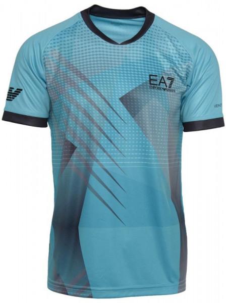 Meeste maika EA7 Man Jersey T-Shirt - blue caracao