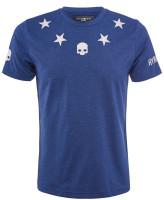 Męski T-Shirt Hydrogen Tech Stars T-Shirt - blue melange