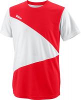 Koszulka chłopięca Wilson Team II Triangle Crew B - team red