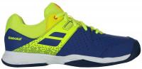 Juniorskie buty tenisowe Babolat Pulsion Clay Junior - blue/fluo aero