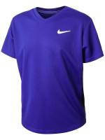 Nike Court Dri-Fit Victory SS Top B - concord/black/white