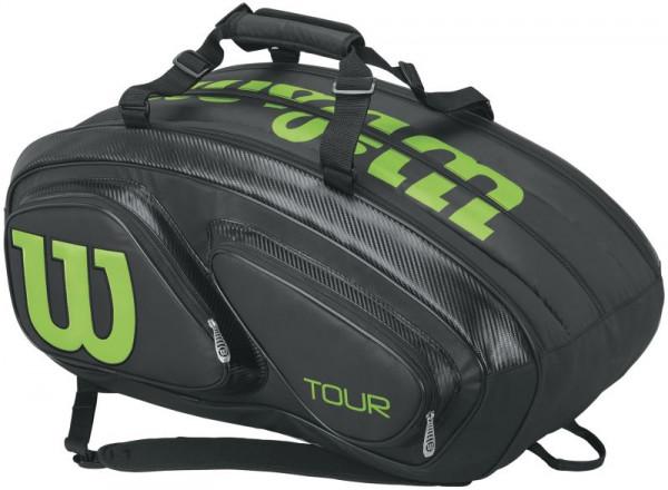 Wilson Tour V 15 Pk - black/lime