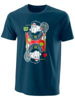 Męski T-Shirt Wilson M King Tech Tee - majolica blue