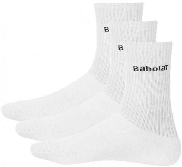 Tenisa zeķes Babolat Tennis Socks - 3 pary/white