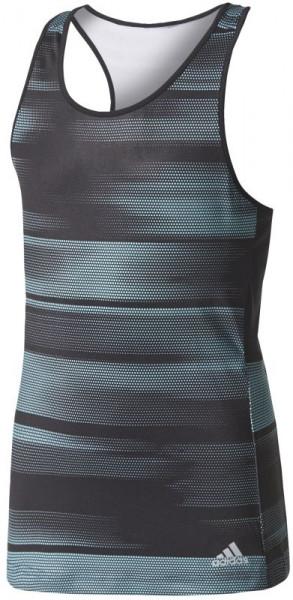T-krekls meitenēm Adidas Girls Advantage Trend Tank - black/onix/energy aqua