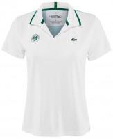 Damskie polo Lacoste Women's Lacoste SPORT Roland Garros Polo Shirt - white/turquoise