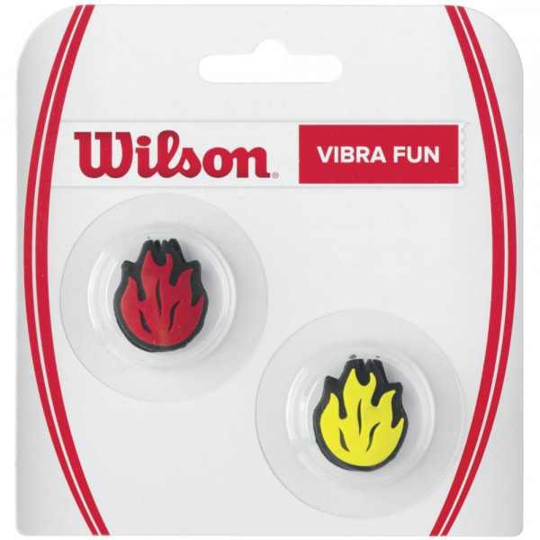 Vibration dampener Wilson Vibra Fun Flames (2 szt.) - red/yellow