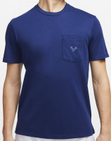 Męski T-Shirt Nike Court M Rafa Top SS  - blue void