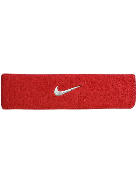 Frotka Tenisowa na głowę Nike Swoosh Headband - varsity red/white