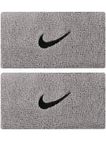 Nike Swoosh Double-Wide Wristbands - matte silver/black