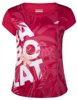 Koszulka dziewczęca Babolat Exercise Graphic Tee - red rose